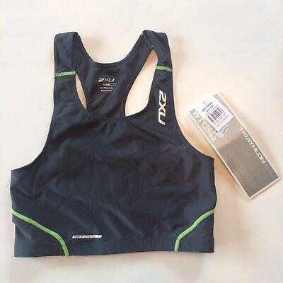 2XU Triathlon Comp Tri Top Sport BH - Farbe Grau - Damen XL - UVP 49,95