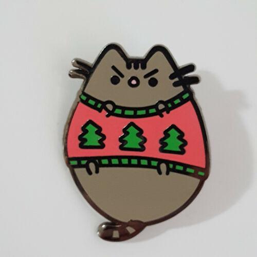 Pusheen Cat Enamel Pin / Button: 2018 Christmas Edition - Angry Sweatersheen