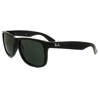 Ray-Ban Sunglasses Justin 4165 601/71 Shiny Black Green Large 55mm
