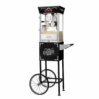 Great Northern Matinee Antique Style Popcorn Popper Machine Wcart 8 Ounce
