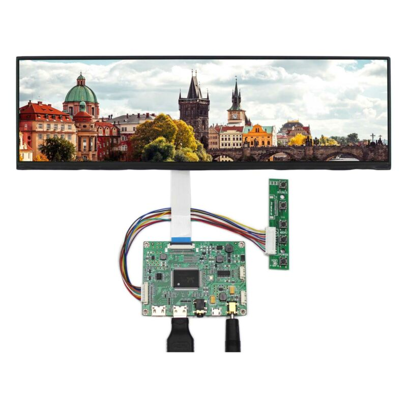 Mini HD MI LCD Controller Board 12.6 in NV126B5M-N41 1920X515 IPS LCD Screen