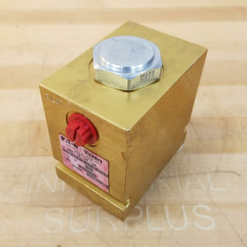 EATON Vickers ADV1-16-12T-100 Pressure Control Valve Block - USED