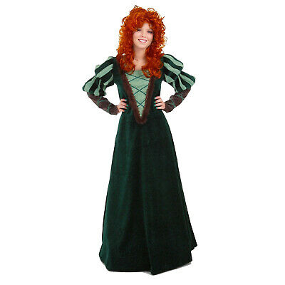Brave Merida Scottish Forest Princess Cosplay Green Costume Dress ADULT S M - Woodland Princess Costume