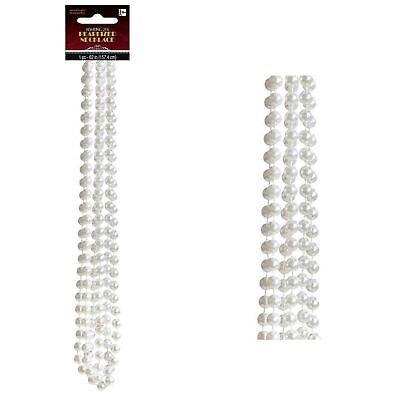 Perlen Flapper Kostüm (Damen Roaring 20s Kunstperle Perlen Gatsby Flapper Halskette Modeschmuck)