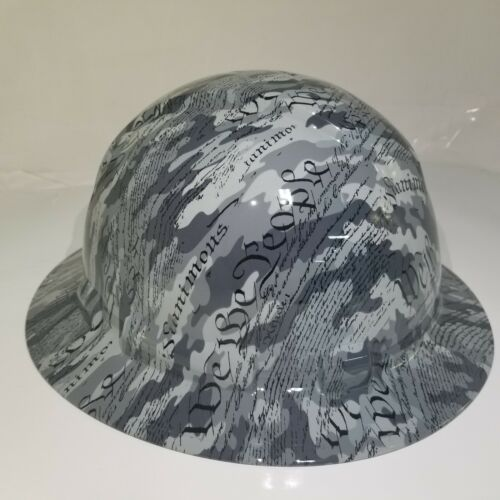 Hard Hat custom hydro dipped OSHA approved FULL BRIM,MILITARY CAMO WE THE PEOPLE 2