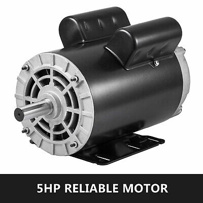 5 Hp Air Compressor Duty Electric Motor 56 Frame 3450 Rpm Single Phase New