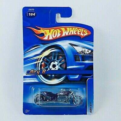 NEW Hot Wheels Motorcycle AIRY 8 Purple 2006 First Editions J3470 CARD DAMAGED
