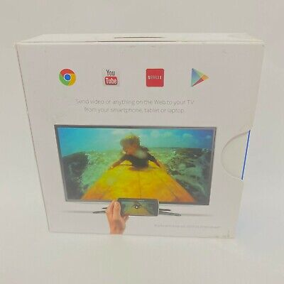 Google Chromecast 1st Generation H2G2-42 Black HDMI Media Streamer BRAND NEW!!!