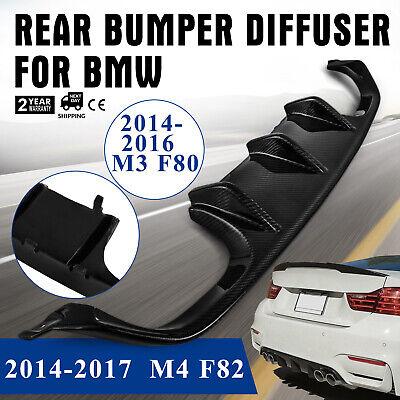 Rear Bumper Valance Diffuser Spoiler for BMW F80 M3 F82 M4  15-17 Carbon Fiber