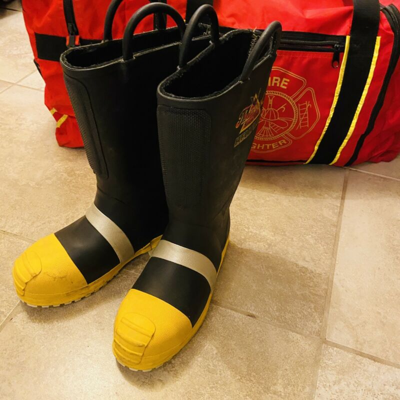 THOROGOOD HELLFIRE STRUCTURAL AND HAZMAT FIREFIGHTING BOOTS 807-6003 9 1/2 M
