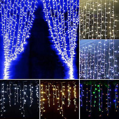 LED Lichtervorhang Hochzeit Innen Außen Party Dekor Lichterkette Lichter DE