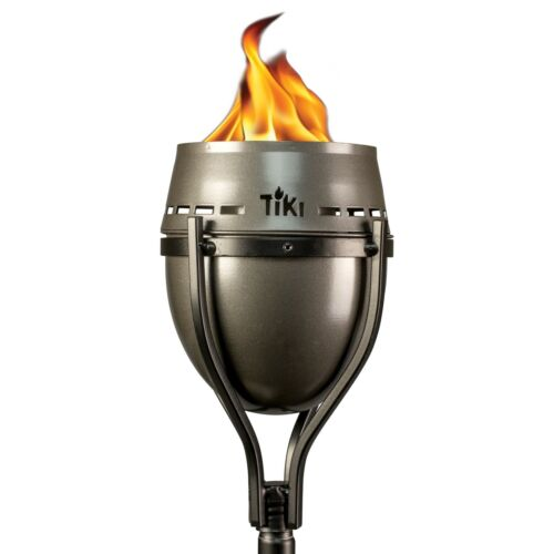 Tiki King large Metal Torch Light bundle (2-pack) Outdoor Mosquito Repellent