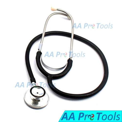New Black-Color Double/ Dual Head Stethoscope EMT Doctor Nurse Vet Student B-785