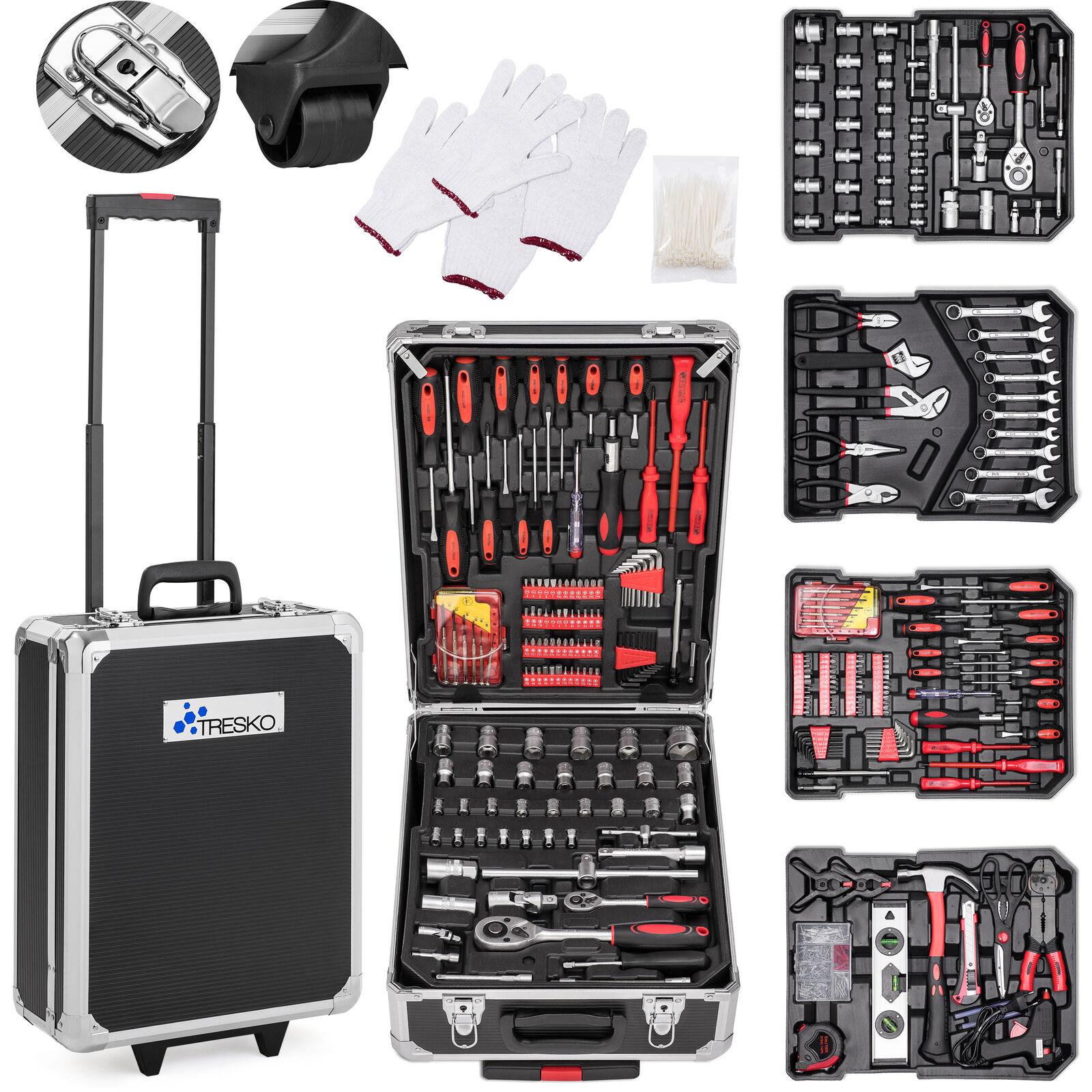 735 tlg Werkzeugkoffer Werkzeugkasten Werkzeugbox Werkzeugkiste Trolley Set