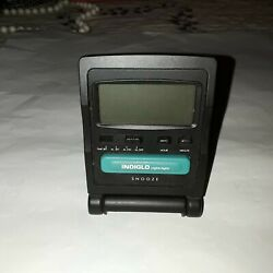 Vintage Tested Timex Indiglo Travel Bedside Alarm Clock Night-Light Nightlight
