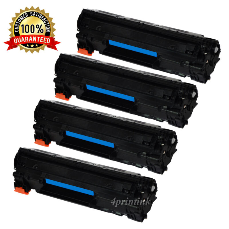 4 Black 83A CF283A Toner Cartridges For HP LaserJet Pro M127fn M127fw M125nw MFP