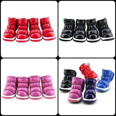New 4PCs Best Pet Winter Warm Snow Shoes Anti-Skid Soft Fur Shoes For