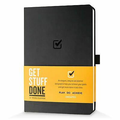 Undated Productivity Journal 13 Week Planner For Goal Setting Plus 31 Daily ...