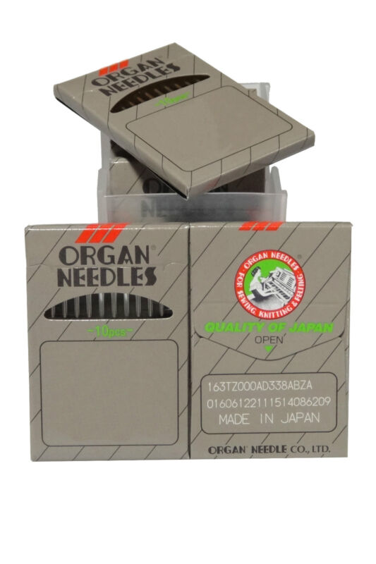 50 Organ Needles 16X257, DBX1, 16X231 - Size 10, For Juki Singer Sewing Machine