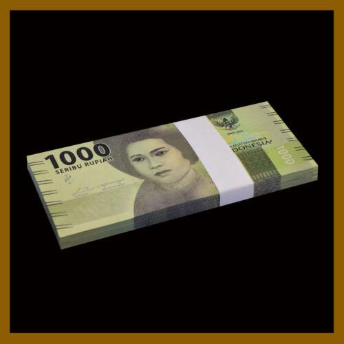 Indonesia 1000 (1,000) Rupiah x 100 Pcs Bundle (1/10 Million) IDR, 2016 UNC