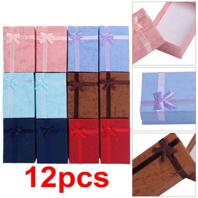 Jewellery - 12x Jewellery Gift Boxes Bag Bracelet Necklace Ring Display Earring Storage Set