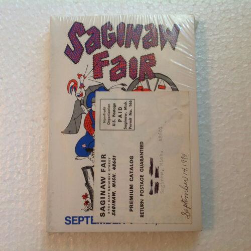 Vintage September 1974 Saginaw Fair Book Sealed! Old MI Program Rare Carnival