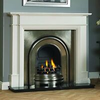 Traditional Solid Fuel Cream Surround Coal Cast Iron Open Fire Fireplace Suite - low cost fireplaces uk - ebay.co.uk
