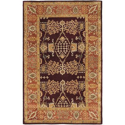 Safavieh Bergama Red/Rust Wool Area Rug 5' x 8' 5 Bergama Rectangle Rug