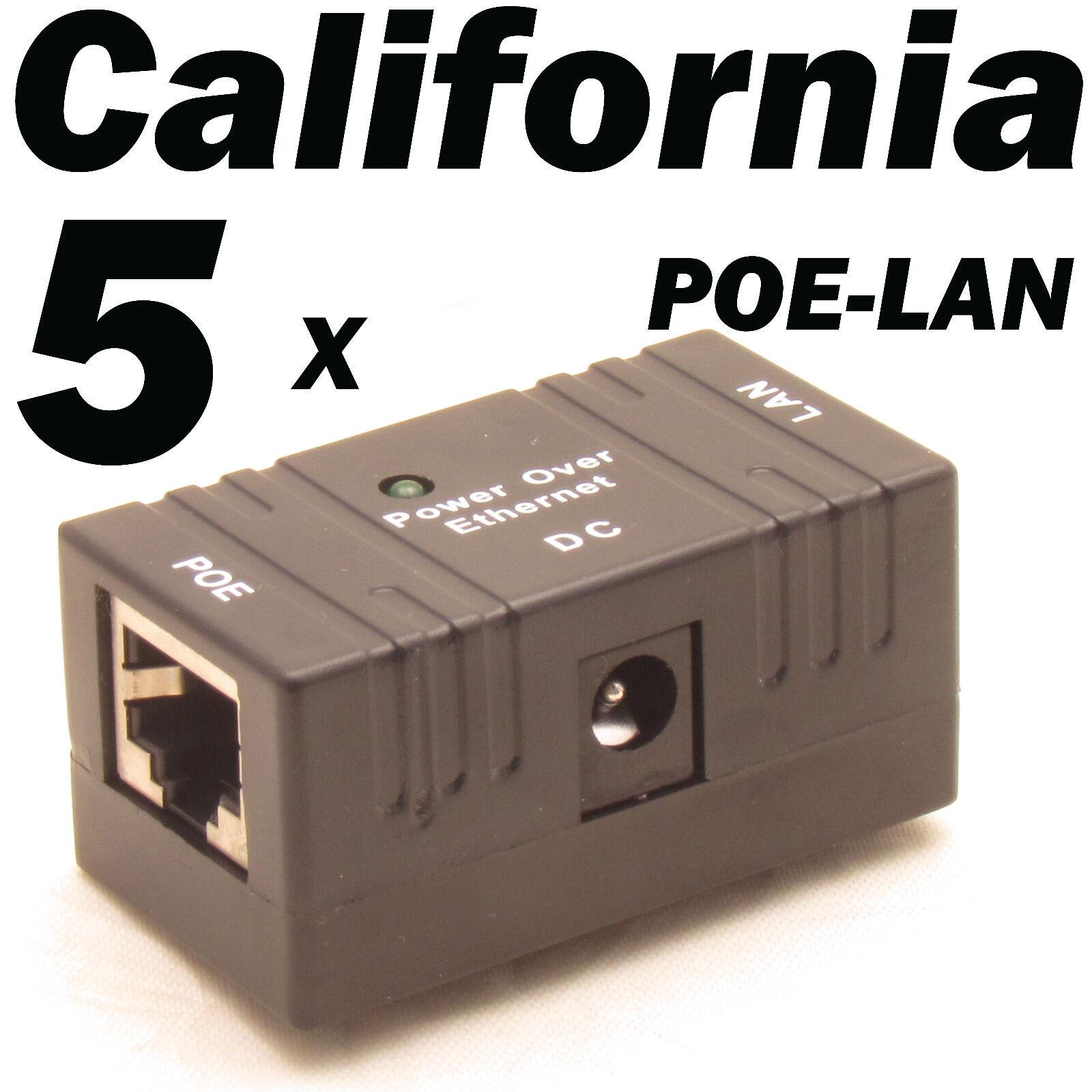 Passive PoE Injector Splitter over Ethernet Adapter For LAN Network IP Camera