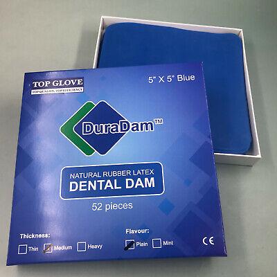 Dental Rubber Dam Sheet Natural Latex Dura Dam 52 Units 55 Inches Mint