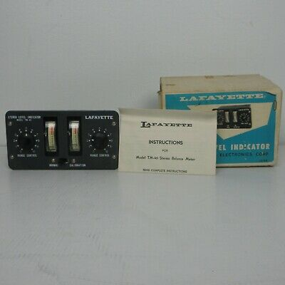 Lafayette TM 45 Stereo Level Indicator Japan NOS VU Meter Radio DJ Studio untest