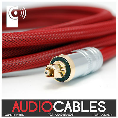 5m PRo MASTER TOSLink CABLE (Digital Fibre Optic Audio Cable) TcR5 THAT'S...