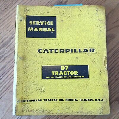 Cat Caterpillar D7 D7e Service Shop Repair Manual Tractor Bulldozer 47a 48a6393-