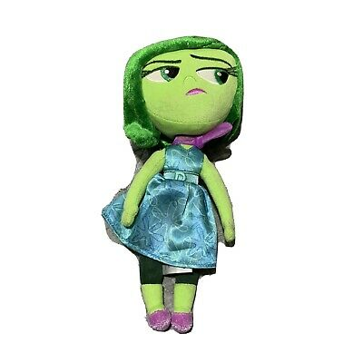 "Disney Store Original Authentic Pixar INSIDE OUT Disgust Stuffed 11"" Plush Toy"