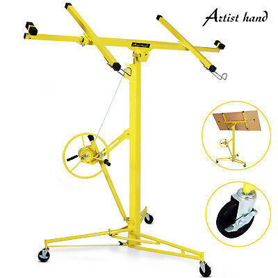 16'-19' Drywall Panel Lifter Hoist Jack Rolling Caster Lockable DIY Tool Yellow for sale  USA