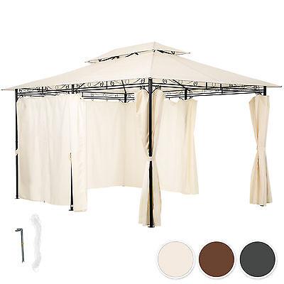 Gazebo da giardino di lusso tendone tenda per festa con parti laterali 3x4 m