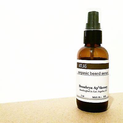 ORGANIC Nourishing BEARD OIL: ATLAS Mtn ~ 2 oz BIG Bottle Ve