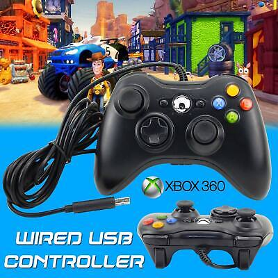 Wired Game USB Controller Gamepad Joystick Black For Microsoft Xbox 360 & PC US