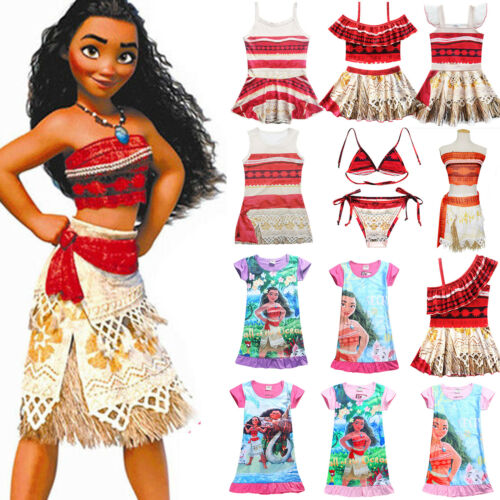 Vaiana Moana Kostüm Kinder Baby Mädchen Kleid Bademode Badeanzug Bikini Tankini