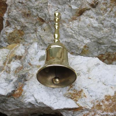 Handglocke Marktglocke Schul-Hotel-Glocke Weihnachtsglocke Messing Guss Qualität