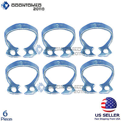 6 Endodontic Rubber Dam Clamp Gw Surgical Dental Instruments