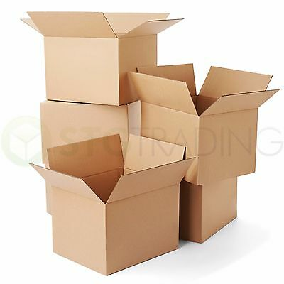 25 x Cardboard Mailing Shipping Packaging Boxes 8x6x4