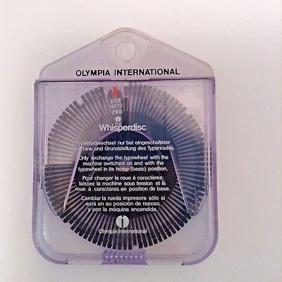 Olympia International Original Typewheel Typewriter Whisper Disc 808 1012 79806
