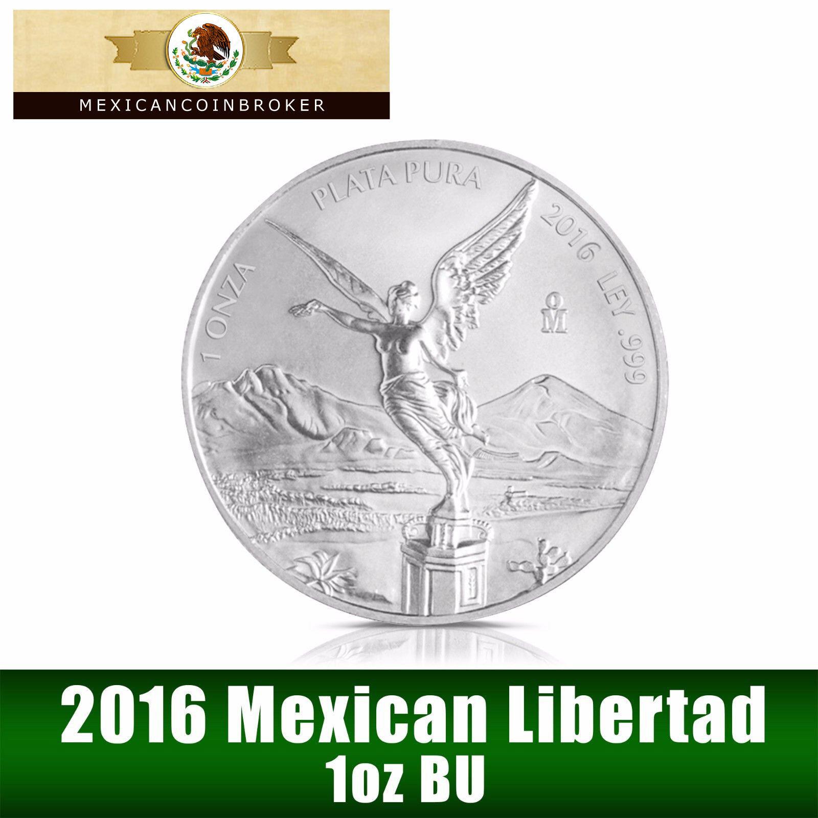2016 1oz Silver Libertad BU  *Treasure Coin of Mexico™* in capsule