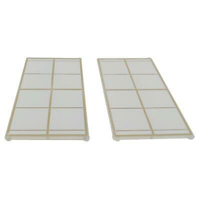 2 NEW LEGO Glass for Window 1 x 4 x 6 Gold Lattice - Frosted White Trans-Clear