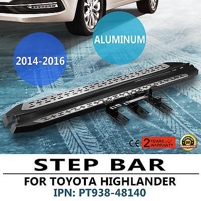 2014-2017 Toyota Highlander Premium Aluminum Running Board Side Step nerf bar4x4