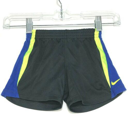 NIKE Athletic Shorts Boys 12 months Gray Blue Yellow Elastic