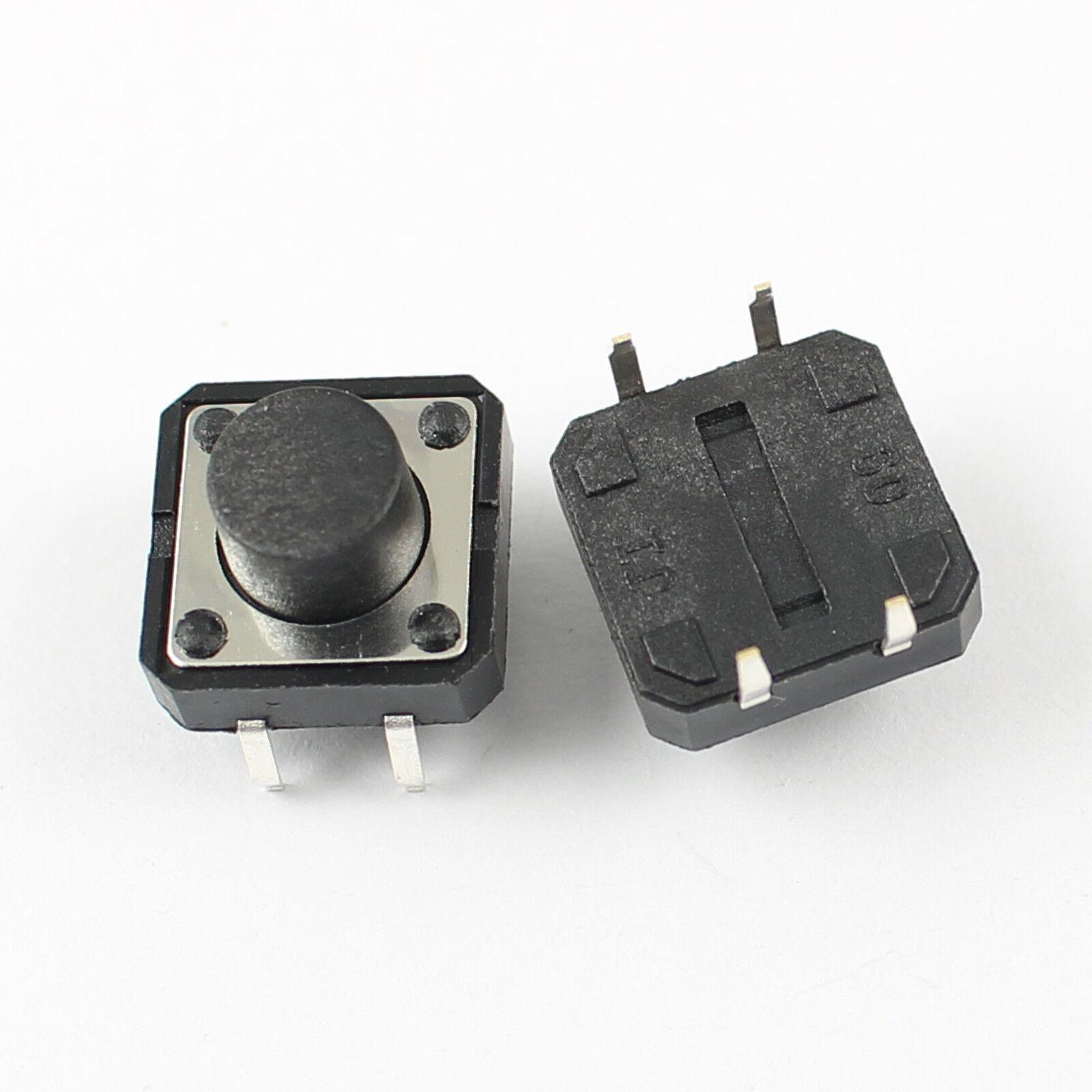 100pcs Momentary Tactile Tact Push Button Switch 4 Pin Dip 12x12x7 5mm 12x12x75mm