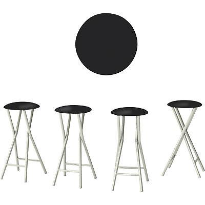 Metal Black Counter Stools - Padded Metal Folding Bar Pub Patio Counter Stools- Classic Black 30