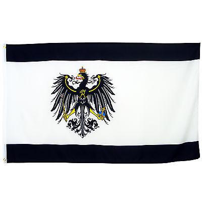 Fahne Königreich Preußen Querformat 90 x 150 cm Hiss Flagge Preußen Adler
